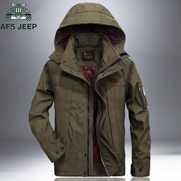 Plus Size Windbreaker Jackets Australia - AFS JEEP Windproof Waterproof Tactical Army Jacket Coat Outdoor Casual Hooded Spring Autumn Jackets Mens Plus Size 4XL Windbreaker Coat