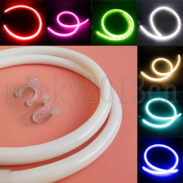 Discount bright neon signs - AC 220V Super Bright 2835 LED Neon Tube Strip Rope Light Flexible Cylindrical 120LEDs m IP67 Waterproof US EU Plug for C