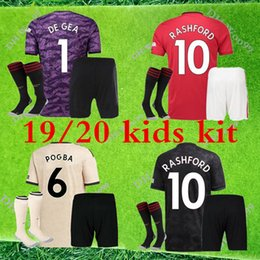 united socks Canada - 19 20 Manchester soccer Jersey kids kit 2020 United Goalkeeper POGBA JAMES MATA LUKAKU FRED RASHFORD Matic kids kit shirt+socks