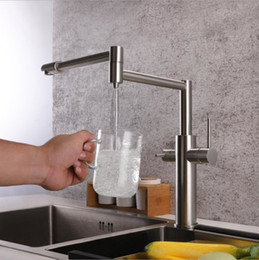 $enCountryForm.capitalKeyWord Australia - Brushed Nickel Kitchen Sink Faucet Swivel Spout Kitchen Sink Tap Deck Mounted Single Handle Hot and Cold Water Mixer