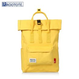 $enCountryForm.capitalKeyWord NZ - New Style Men Women Rootote Orange Yellow Backpacks Spring Summer Backpacks Are Water-Resistant On Sale