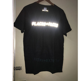 Reflective T Shirts Australia - T-shirts Women Men 1:1 High Quality Cotton Hip Hop Streetwear Tee 3m Reflective Places+faces T-shirt Q190518