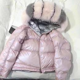 Women Warm Parka Australia - 2018 Winter Jacket Women Real Fox Fur Hooded Down Coat Thick Warm Down Parka White Duck Jacket Loose Short Real Fur Coat