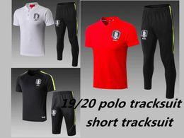 Korea suit man online shopping - 19 Korea Son football polo tracksuit short sleeve pants Shin Wook MIDLAYER SHIRt Lee Jae Seong football training suit Sweatshirt