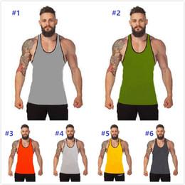 $enCountryForm.capitalKeyWord Australia - 20pcs Hot sale Bodybuilding Brand Tank Top Men Stringer Tank Top Fitness Singlet Sleeveless Shirt Workout Man Undershirt Clothing