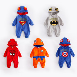 $enCountryForm.capitalKeyWord Australia - Winter Thickened Flannel Baby Super Hero Clothing Long Sleeve Hooded Baby Rompers Jumpsuits For Boy The Avengers Infant Overalls J190524