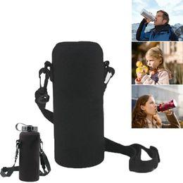 $enCountryForm.capitalKeyWord Australia - 2019 New 1000ML Water Bottle Cover Bag Pouch Neoprene Water Bottle Carrier Insulated Bag Pouch Holder Shoulder Strap Black