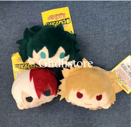 Wholesale heroes video games for sale – custom Top New Styles My Hero Academia Bakugou Katsuki Todoroki Shoto Midoriya Izuku Plush Bag Anime Coin Bags Best Gifts Soft Bags