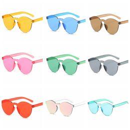 a779d7d86669 Candy sunglasses online shopping - European American candy Sunglasses women  frameless conjoined jelly transparent Retro sun