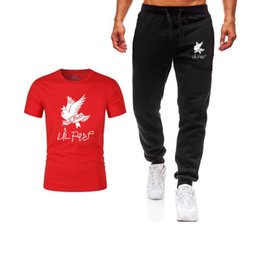 $enCountryForm.capitalKeyWord Australia - Summer Hot Sale Men's Sets T Shirts+pants Two Pieces Sets Casual Tracksuit Male 2019 Casual Tshirt Gyms Fitness trousers men