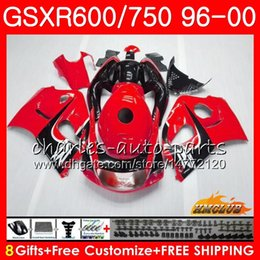 98 Srad Fairing Red Australia - Body For SUZUKI SRAD GSXR 750 600 GSXR-600 GSXR750 96 97 98 99 00 1HC.0 GSX-R750 GSXR600 1996 1997 1998 1999 2000 Fairing kit New red black