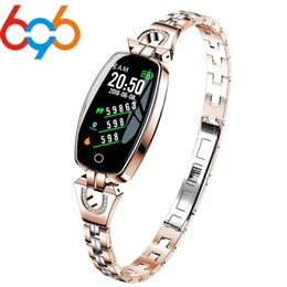 H8 Smart Watch Australia - 696 Woman H8 Smart Watch Bracelet Heart Rate Blood Pressure Watch Pedometer Waterproof Fitness Activity Tracker Bracelet