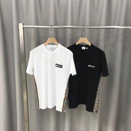 Wholesale crochet t shirts online – design 2020ss spring and summer new high grade cotton printing short sleeve round neck panel T Shirt Size m l xl xxl xxxl Color black white q374
