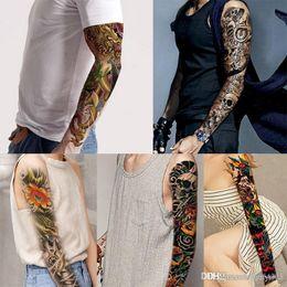 $enCountryForm.capitalKeyWord Australia - Full Arm Temporary Tattoo, Waterproof Body Tattoo Skull Tattoo Floral Tattoo Sticker for Women Men Bikini stickers for beach in summer