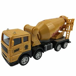 Chinese  Mini Concrete Mixer Truck Inertia Cars Kids Simulation Engineering Truck Model Toys Friction Car Children Party Gifts manufacturers