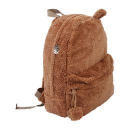 $enCountryForm.capitalKeyWord UK - Ladies Girls Backpack bag Cute Travel Satchel Shoulder Plush Bag Rucksack Brown