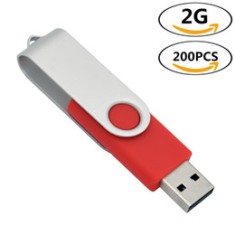 $enCountryForm.capitalKeyWord Australia - j_boxing Red 200PCS 2GB USB 2.0 Flash Drives Rotating Thumb Pen Drives Flash Memory Stick Pen Storage for Computer Laptop Tablet Macbook