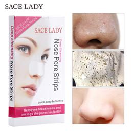 $enCountryForm.capitalKeyWord Australia - SACE LADY 14 Pcs Nose Strips Blackhead Remover Mask Deep Cleansing Black Head Cleaner Nasal Sticker Face Dot Spot Skin Care