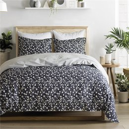 Beautiful Modern Bedding Australia - Free shipping Holiday New Year Gift Beautiful Flower Floral Print Comfy Cotton bedding duvet Cover set pillowcase Twin Queen King size