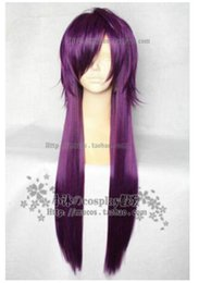 $enCountryForm.capitalKeyWord NZ - FREE SHIPPING + Hakuouki Calendar Edition Almanac Edition Saito A Long Light Purple Cosplay Wig