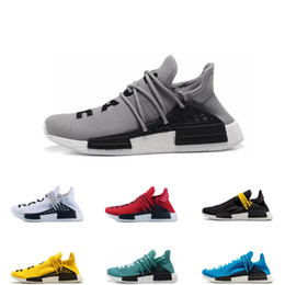 human race lighting shoes 2019 - Designer running shoes human race 1.0 for men women grey black yellow white Sport Shoes blue red Trainer Sneakers size 3