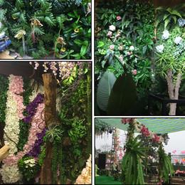 $enCountryForm.capitalKeyWord Australia - Artificial Green Vine Ivy Branches Leaf Plant Wall Hanging Plastic Rattan Grass Bonsai Wedding Decor Flowers Accessories