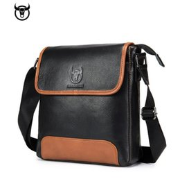leather computer bags men Australia - Fashion casual explosion models men's leather shoulder messenger bag leather business casual new vertical student sports document computer b