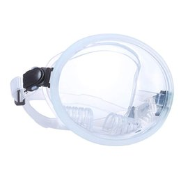 Discount field glasses Panoramic Wide Field of View Diving Mask Durable Water Sports Diving Snorkeling Frameless Mask Tempered Glass Goggles