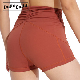 Wearing Compression Shorts NZ - Legging Gym Workout Short Tight Compression High Waist Sport Shorts Women Hot Yoga Push Up Sports Wear For Fitness Activewear #75045