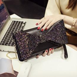 Shoulders Knots Australia - Big Bow Handbags Luxury Designer Pu Leather Women Shoulder Bag Butterfly Knot Women's Totes Fashion Evening Clutch Bag