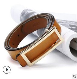 Leather Belt Decorations Australia - Wholesale manufacturers cowhide smooth buckle lady leather belt retro leather han version casual with fashion decoration belt01
