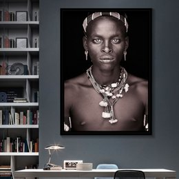 african modern abstract art paintings Australia - Nordic Style Poster Canvas Prints Modern Pictures African Man Art Portrait Wall Painting Modular Home Decoration For Living Room