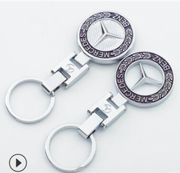 mercedes benz ring 2019 - Key Holder Auto Accessories Car Styling Car Key Ring Key Chain AMG Badge Car Emblems For Mercedes Benz A45 SLS AMG
