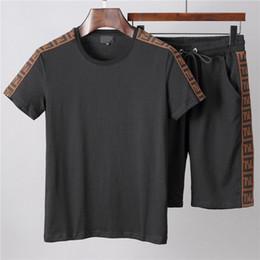 $enCountryForm.capitalKeyWord UK - Men Clothing Sets Short Sleeve Letter Printing Tracksuits 2 PCS Mens Casual Summer Wear Designer Clothing Set M-XXXL