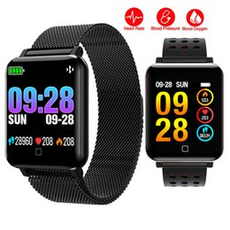 $enCountryForm.capitalKeyWord Australia - HD Color Screen Smartwatch Heart Rate Monitor Smart Band Sports Mode Fitness Tracker Stainless Steel Smart Wristband Watch