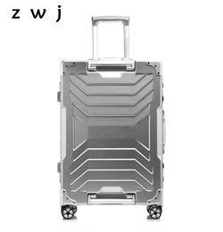 $enCountryForm.capitalKeyWord NZ - 20,24,28 inch Aluminium Frame Rolling Luggage Hardside trolley travel bag universal wheel business suitcase trunk
