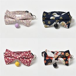 bandana scarf dog collar wholesale UK - Pet Supplies Pet Bandana Scarf Bowknot Collar Neckerchief Dog Bandana Triangle Scarf Collars Pet Cat Puppy Collars Fashion Dog Necklaces #681