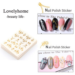 $enCountryForm.capitalKeyWord Australia - Stickers Decals 30 Sheets Lot Gold Silver Gold Cat Hot 3D Designs Cute Nail Art Watermark Tips Nail Decals Manicure Makep Art Decorations