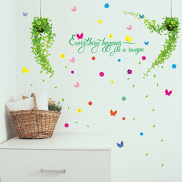 $enCountryForm.capitalKeyWord Australia - green plant butterfly wall stickers home decor living room bedroom kitchen children room wall decals poster murals
