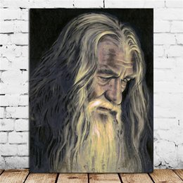 Printed Rings Australia - Lord Of The Rings Gandalf Poster Canvas Painting Wall Picture Poster And Print Decorative Home Decor