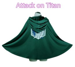 Wholesale attack titan cosplay cape online – ideas Attacking the Titan Cosplay Halloween costume attacking giant investigation team Freedom wing commander cape cloak COS performance clothing