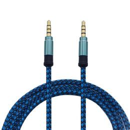 Aux Connectors Australia - Top Quality 1.5m 5ft 3M 10FT 3.5MM Universal Braid Aux Cable Unbroken Metal Connector Car Audio Extension Cable For Mobile phones Tablet PC
