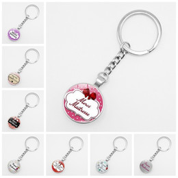 $enCountryForm.capitalKeyWord Australia - 2019 Hot Sale Teacher Gift Merci Maitresse Key Ring Fashion Silver Glass Bullet Metal Car Keychain Men and Women Jewelry