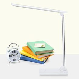 Desk Lamp Silver Australia - Lightme LED Desk Lamp Original Flexible LED Table Lamp Touch Sensor Control Desk Light 7 Levels Of Light Brightness Bedroom Reading Light