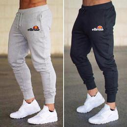 Mens Corredores Casual Calças de Fitness Sportswear Bottoms Skinny Sweatpants Calças Ginásio Preto Calças de Jogging Musculação Pista em Promoiio