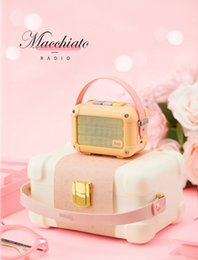 Pink Portable Speaker Australia - Excellent Divoom Macchiato Bluetooth Wireless Speaker Peach Pink Metal Radio outdoor portable hand-held music player Subwoofer
