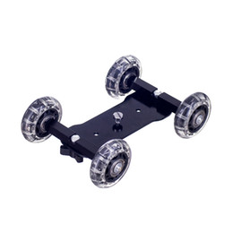 Camera Rail Dolly Australia - Kaliou DSLR Camera Video Photograph Rail Rolling Track Slider Skater Table Dolly Car Flexible For Speedlite DSLR Camera Camcorde