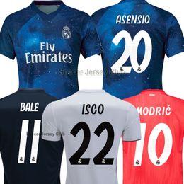 18 19 Real Madrid Soccer Jerseys BALE ISCO EA Sports ASENSIO MODRIC BENZEMA  KROOS SERGIO RAMOS Champions League top Thailand football shirts 686453fc2