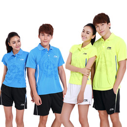 Sportswear T Shirt Badminton Australia - LNF5 Li Ning Badminton Suit Sportswear for Men & Women Short Sleeve T-shirt Leisure Running Basketball casual wear Table tennis LN3010