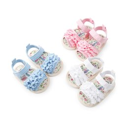 $enCountryForm.capitalKeyWord Australia - 2019 Cute Newborn Baby Girl Sandles Ruffles Flower Shoes Summer Holiday Canvas Shoes Infant Baby Girl Flat 0-18Months